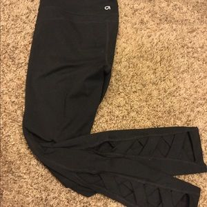 Gap high waisted leggings with detailed ankles